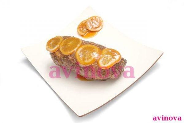 Redondo de pato a la naranja