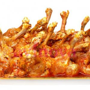 Chupa chups adobados de pollo