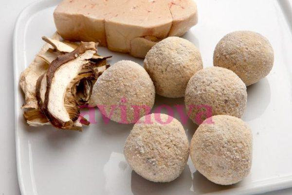 Croquetes gourmet de ceps i foie