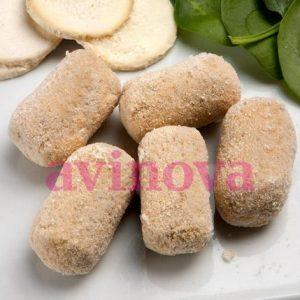 Croquetes gourmet d'epinacs i formatge de cabra